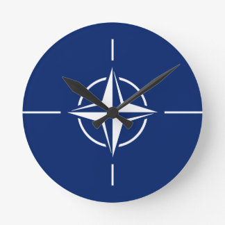 Relógio Redondo Bandeira da OTAN
