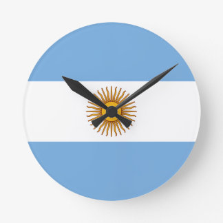 Relógio Redondo Bandeira de Argentina - bandera de Argentina