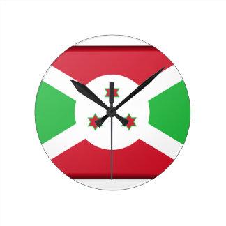 Relógio Redondo Bandeira de Burundi