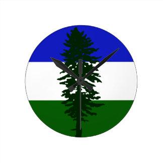 Relógio Redondo Bandeira de Cascadia