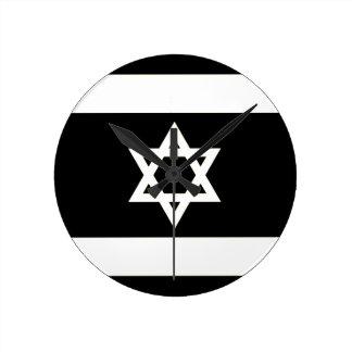 Relógio Redondo Bandeira de Israel - דגלישראל - ישראלדיקעפאן