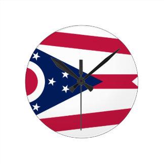 Relógio Redondo Bandeira de Ohio