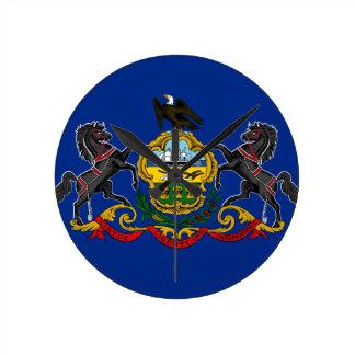 Relógio Redondo Bandeira de Pensilvânia