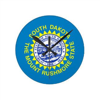 Relógio Redondo Bandeira de South Dakota