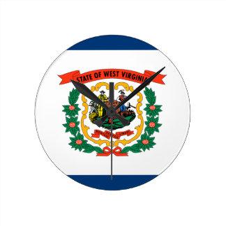 Relógio Redondo Bandeira de West Virginia