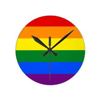 Relógio Redondo Bandeira do arco-íris