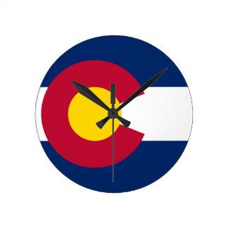Relógio Redondo Bandeira do estado de Colorado