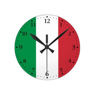 Relógio Redondo Bandeira italiana patriótica