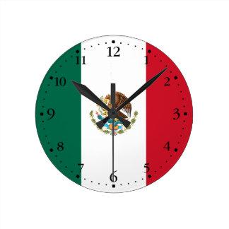Relógio Redondo Bandeira mexicana patriótica