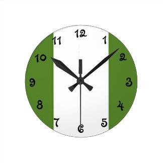 Relógio Redondo Bandeira nigeriana