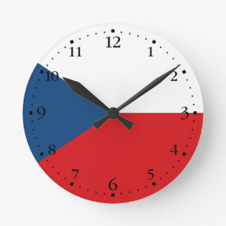 Relógio Redondo Bandeira patriótica da república checa