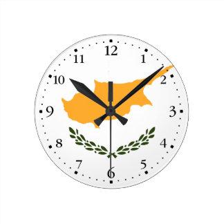 Relógio Redondo Bandeira patriótica de Chipre