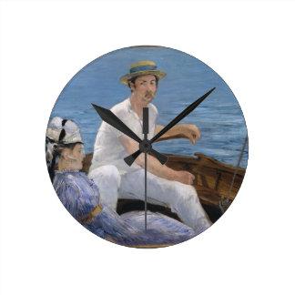 Relógio Redondo Barco - Édouard Manet