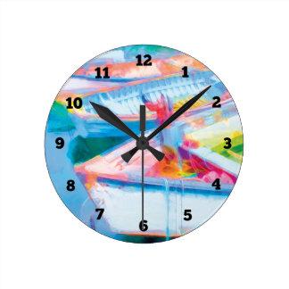 Relógio Redondo Barcos de fileira