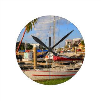 Relógio Redondo Barcos no porto, Darwin, Austrália