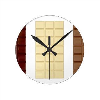 Relógio Redondo Bares de chocolate