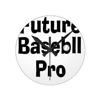 Relógio Redondo Basebol futuro pro