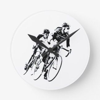 Relógio Redondo Bicycle pilotos na volta
