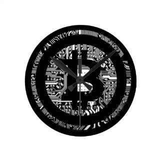Relógio Redondo Bitcoin - o Internet do dinheiro