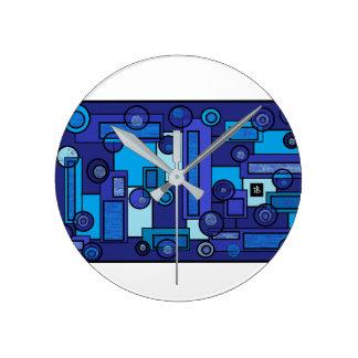 Relógio Redondo blue summer