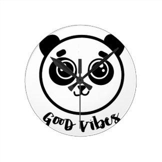 Relógio Redondo Boa panda das impressões