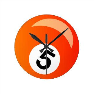Relógio Redondo Bola cinco