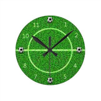 Relógio Redondo Bola do campo de futebol do futebol - pulso de