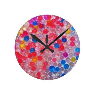 Relógio Redondo bolas transparentes da água
