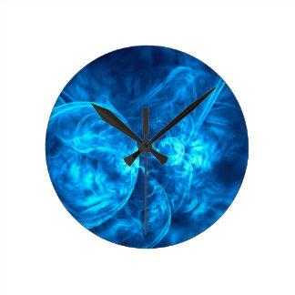 Relógio Redondo bolhas azuis