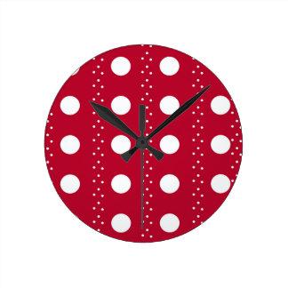 Relógio Redondo bolinhas