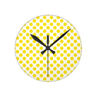 Relógio Redondo Bolinhas amarelas
