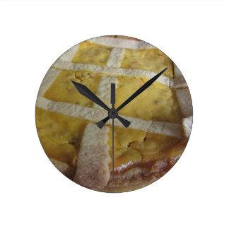 Relógio Redondo Bolo italiano tradicional Pastiera Napoletana