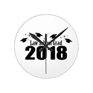 Relógio Redondo Bonés do formando 2018 da escola de direito e