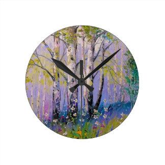 Relógio Redondo Bosque do vidoeiro