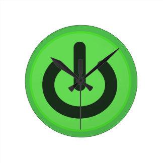 Relógio Redondo Botão de alavanca do poder