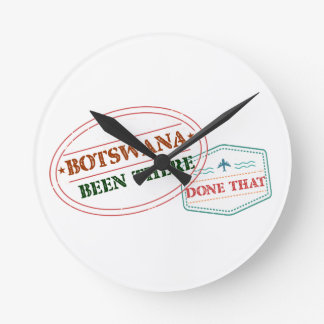 Relógio Redondo Botswana feito lá isso
