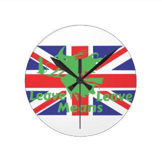 Relógio Redondo brexit