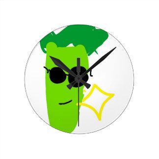 Relógio Redondo Brócolos legal