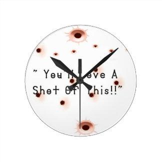 Relógio Redondo Buracos de bala