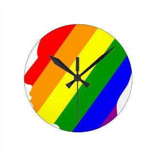 Relógio Redondo Cabeça do arco-íris