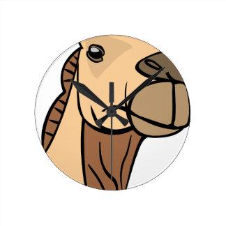 Relógio Redondo Cabeça do camelo
