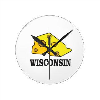 Relógio Redondo Cabeça do queijo de Wisconsin