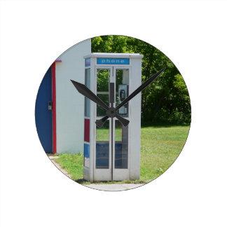 Relógio Redondo Cabine de telefone