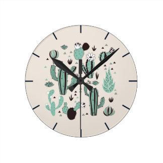 Relógio Redondo Cactos