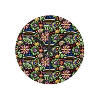 Relógio Redondo Café de Paisley