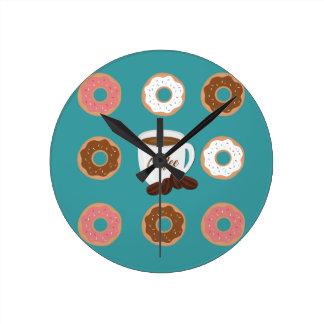 Relógio Redondo Café e rosquinhas