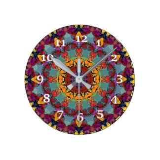 Relógio Redondo Caleidoscópio de Borgonha