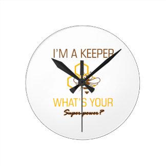 Relógio Redondo Camiseta do depositário da abelha