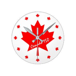 Relógio Redondo Canadá 150 anos de aniversário um--um-amável