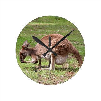 Relógio Redondo Canguru, interior Austrália